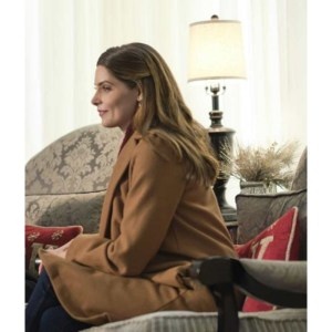 Ashley Greene A Little Christmas Charm Brown Coat