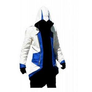 Connor Kenway Assassin's Creed III Blue And White Costume Cotton Jacket
