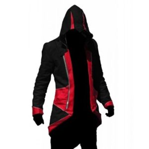 Connor Kenway Assassin'ss Creed III Red And Black Costume Cotton Jacket