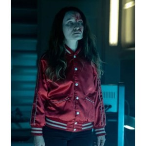 Laura Moon American Gods S02 Varsity Red Jacket