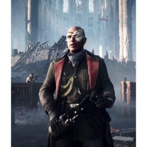 Wilhelm Franke Battlefield V Elites Trench Leather Brown Coat