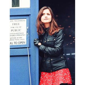 50th Anniversary Clara Oswald Black Leather Jacket