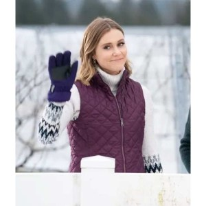 Brooke Christmas on the Vine Zipper Maroon Vest