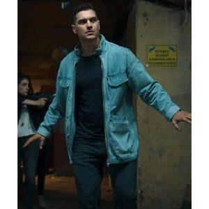 Hakan Demir The Protector Field Blue Cotton Jacket