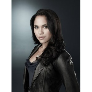 Monica Raymund Celebrity Black Leather Jacket 2014