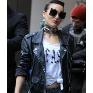 Natalie Portman Biker Black Leather Jacket