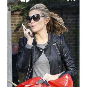 Stylish Abbey Clancy Black Leather Jacket
