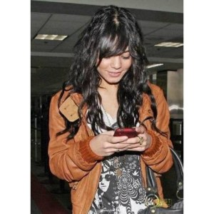 Vanessa Hudgens Brown Leather Zipper Jacket