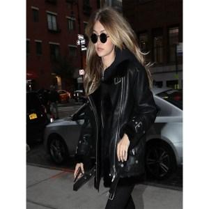 Gigi Hadid Black Bomber Jacket