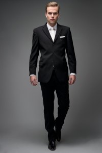 Black. Elevate a basic black suit with the perfect ...