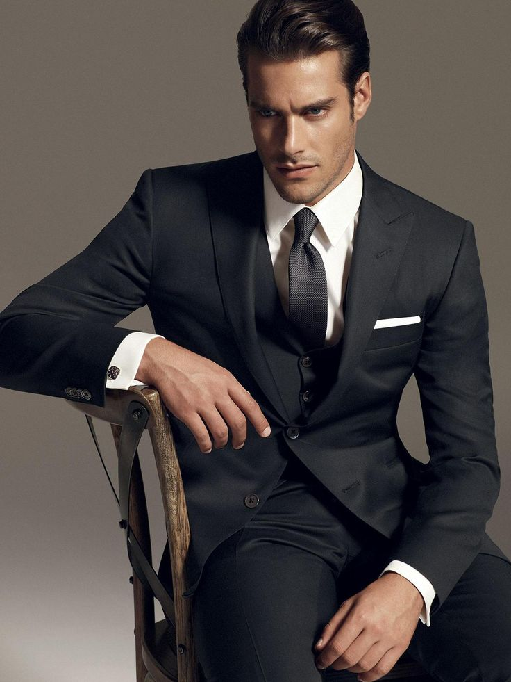 classic black suit with