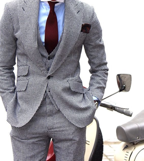 Glen Plaid Mens Suit Pattern