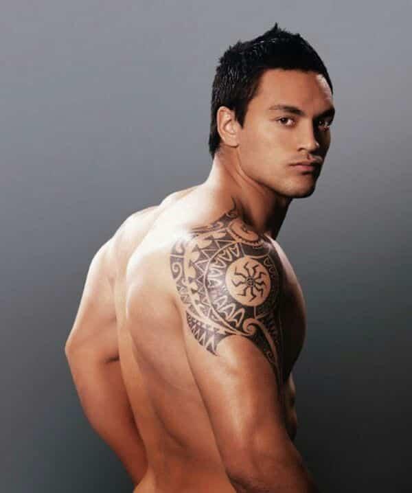 shoulder tattoos men - design
