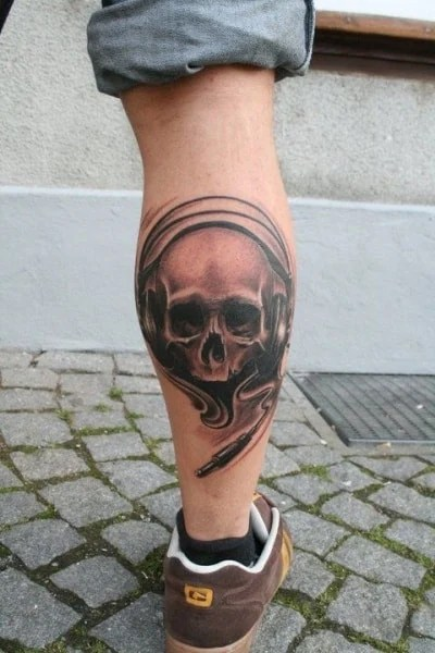 Cool Small Thigh Tattoos For Guys