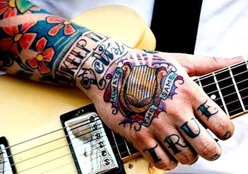 Side Hand Tattoos For Men Words
