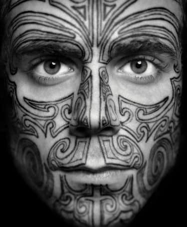 face tattoos men - ideas