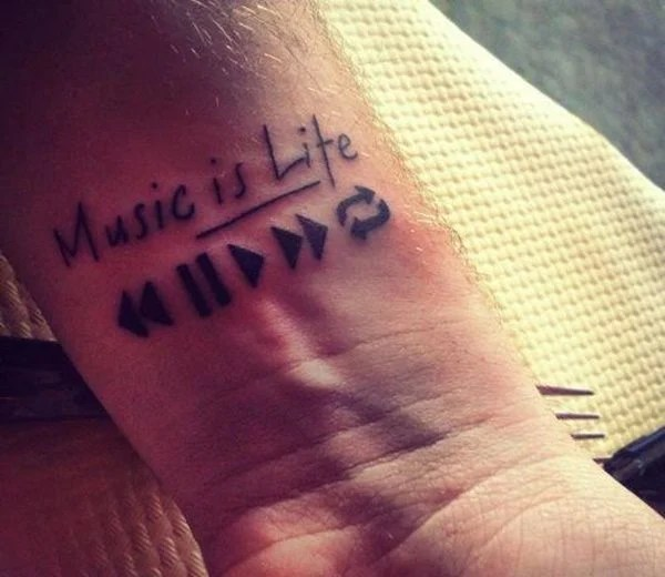 Best Men Musical Tattoos
