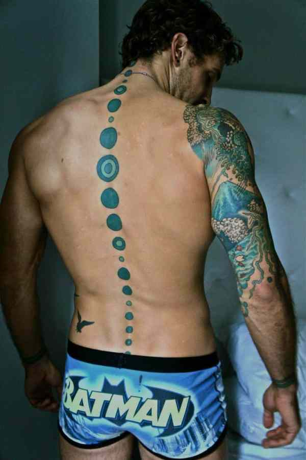 spine tattoos men - ideas