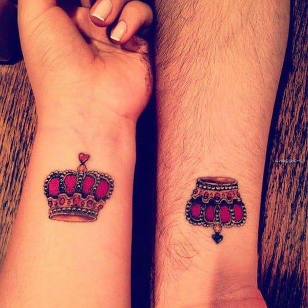 Crown Tattoo On Wrist Men