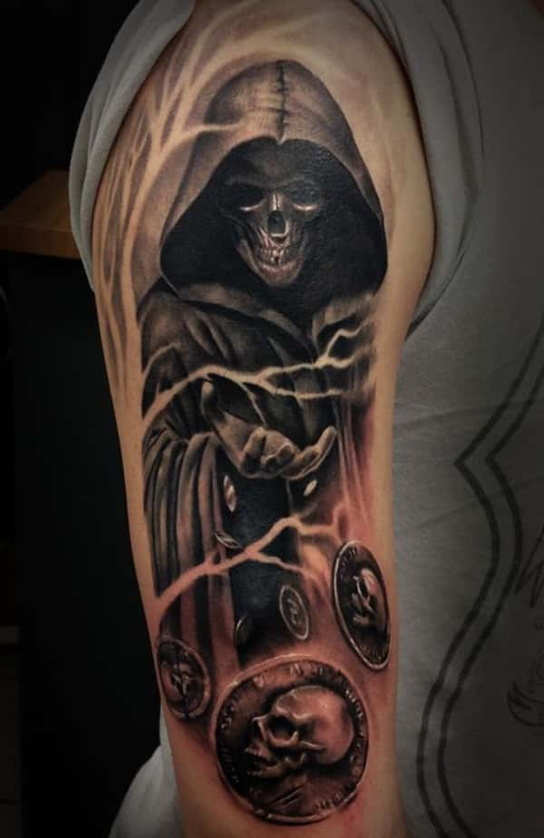grim reaper tattoos men - ideas