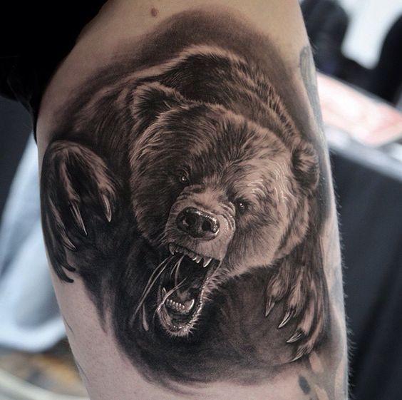 bear tattoos men - ideas