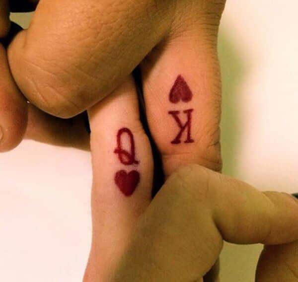 Boyfriend Girlfriend Small Matching Tattoos For Couples