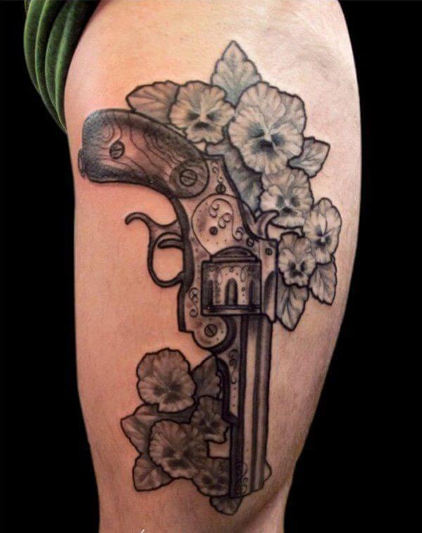 gun tattoos men - ideas