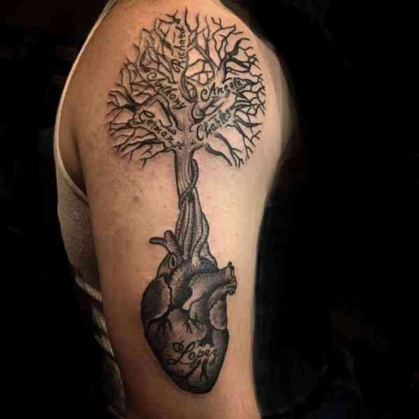 family tree tattoos men - ideas