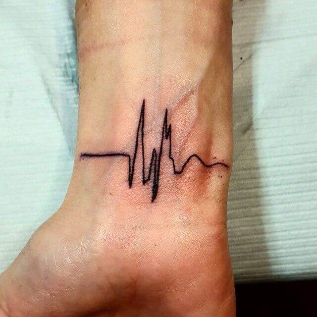 Heartbeat Tattoo Designs On Hand