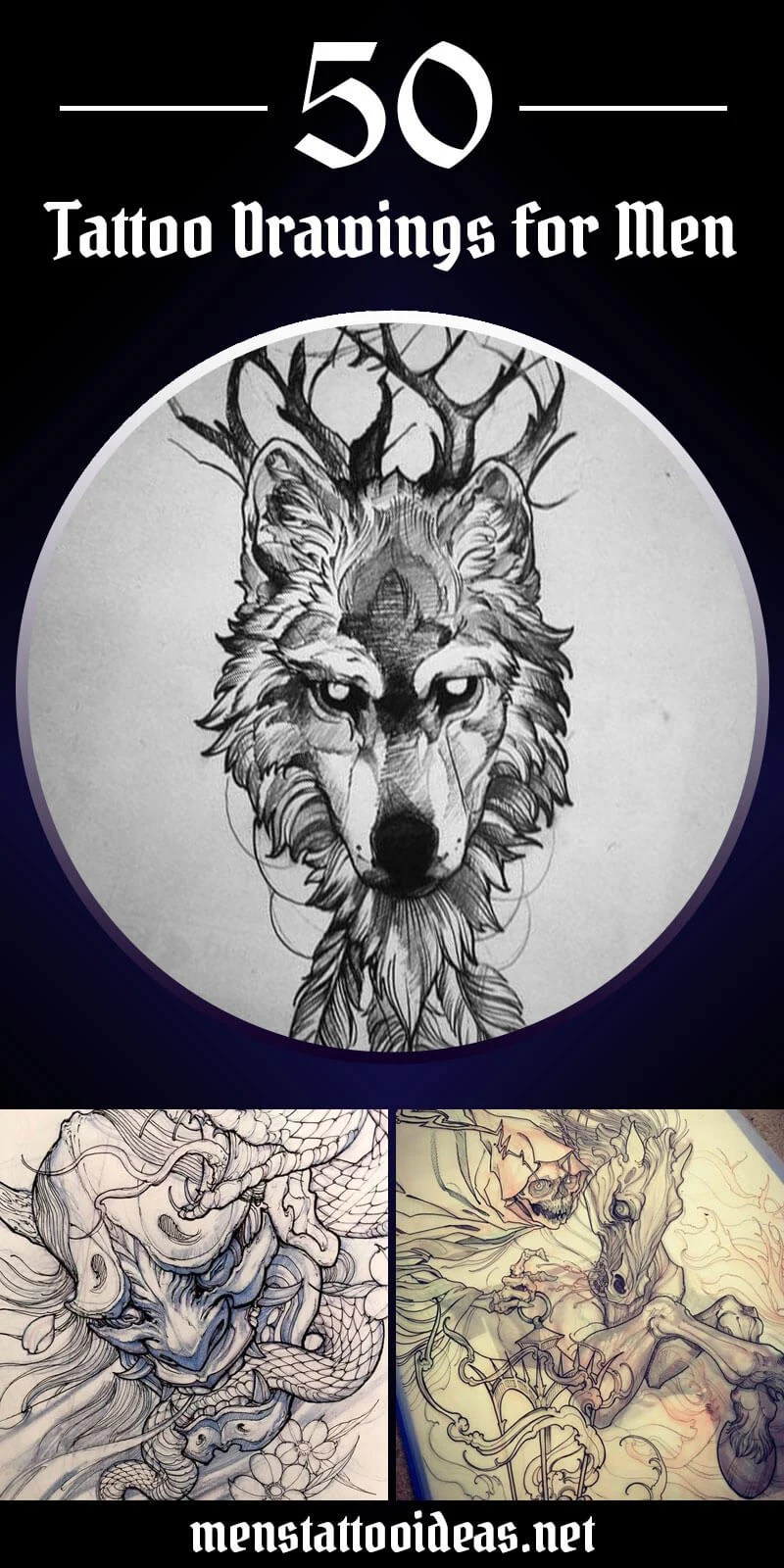 Wolf Eagle Lion Tattoo