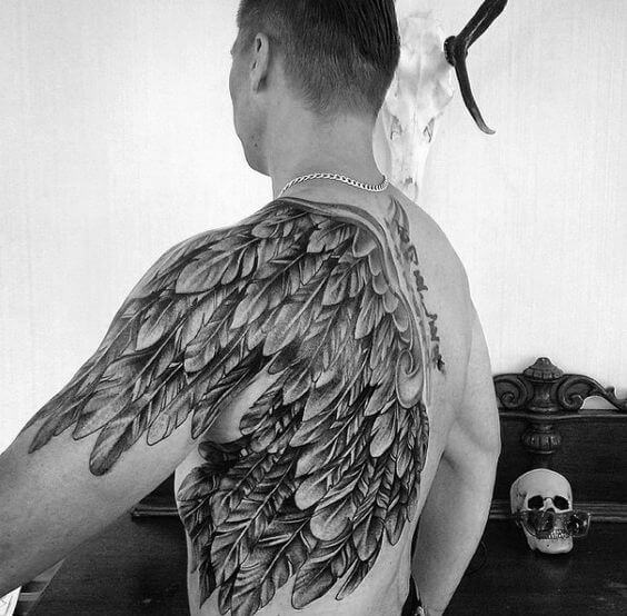 wing tattoos men - ideas