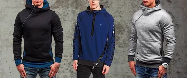 mens funnel neck hoodies