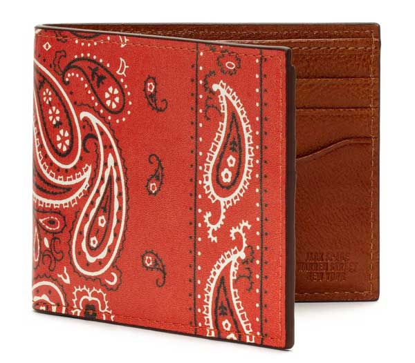 Jack Spade Wallet paisley style red color