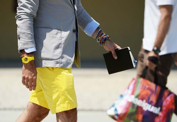 linen men's shorts 2012 - yellow shorts