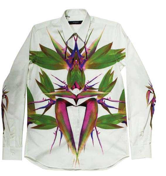 givenchy bird of paradise floral shirt for men