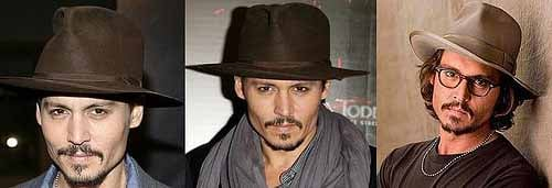 Johnny Depp and his hat collection