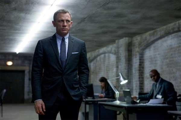 skyfall james bond suit - dark grey