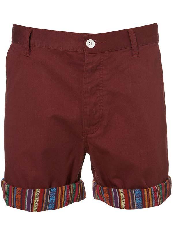 topman shorts burgundy 2012