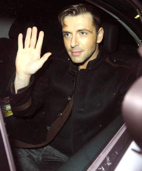 Mark Feehily in military jacket