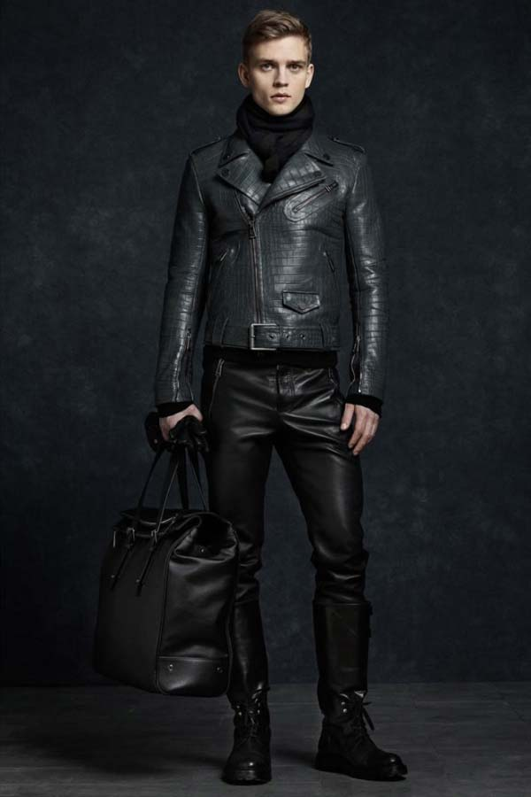 Belstaff Winter Aviator leather jacket and leather pants