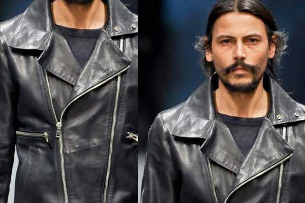 Diesel Black Gold - Mens Fall Winter 2012 aviator leather jacket