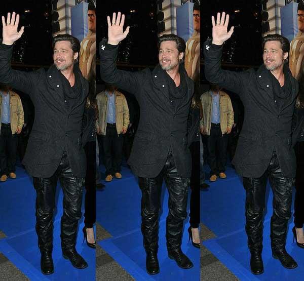 Brad Pitt - Wearing Leather Trousers