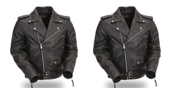 Harley Davidson men's leather aviator jacket