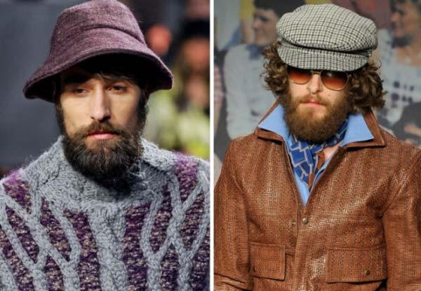 Missoni-e-Trussardi, models wearing beards
