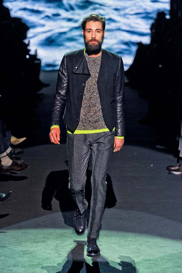 paul smith mens autumn fall winter 2012 - model with beard
