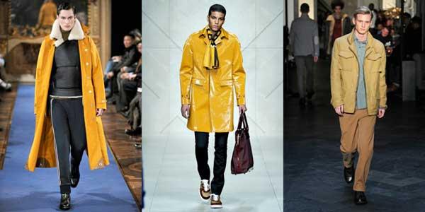 mustard colour trend men 2012