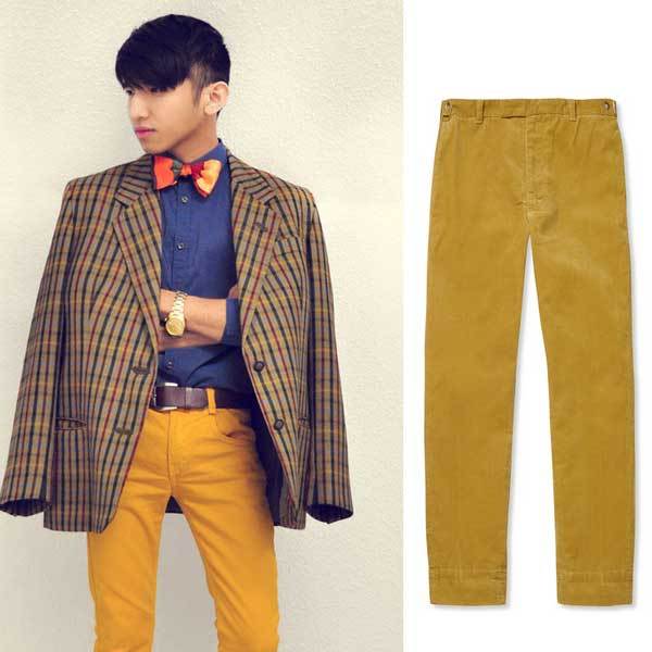 vintage blazer - mustard zara jeans men