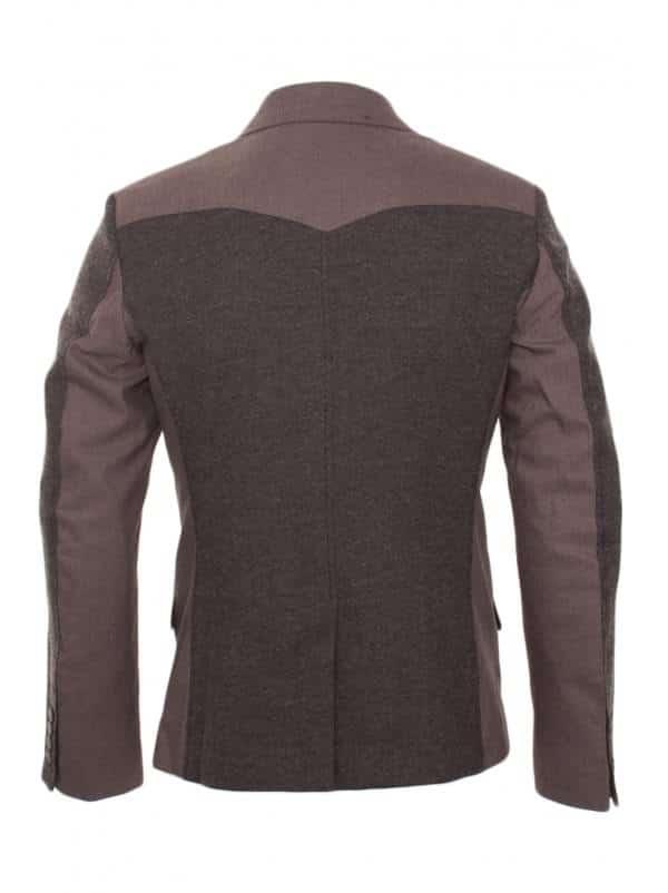 Antony Morato Blazer 2 Button Shoulder Detail In Brown,2012