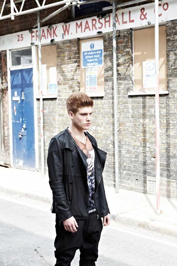 SONS OF HEROES - black leather jacket - Jonny Burt