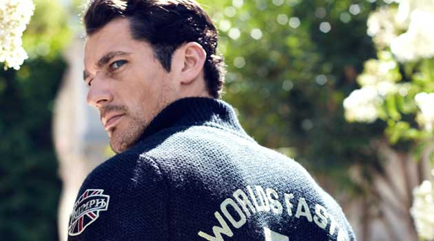 David Gandy - wearing truimph motobike gear